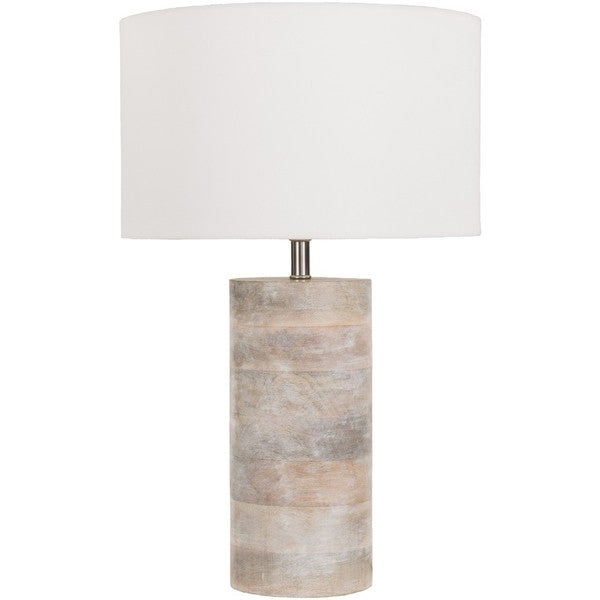 Rustic Neil Table Lamp with Natural Finish Wood/Metal Base