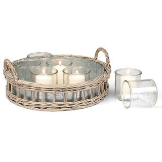 Lyon Tray with Glass Votives