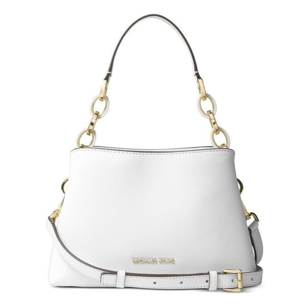 Michael Kors Portia Large East/West Shoulder Bag - Optic White