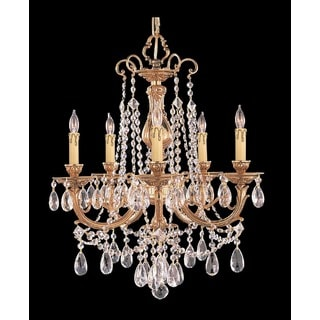 Crystorama Etta Collection 5-light Olde Brass Chandelier