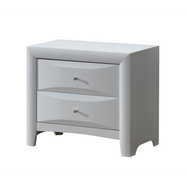White Dovetail 2-Drawer Nightstand