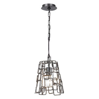 Crystorama Lattice Collection 1-light Raw Steel Chandelier