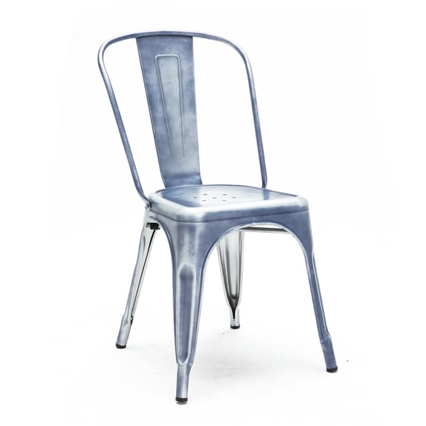 Amalfi Vintage Blue Steel Side Chair (Set of 4)
