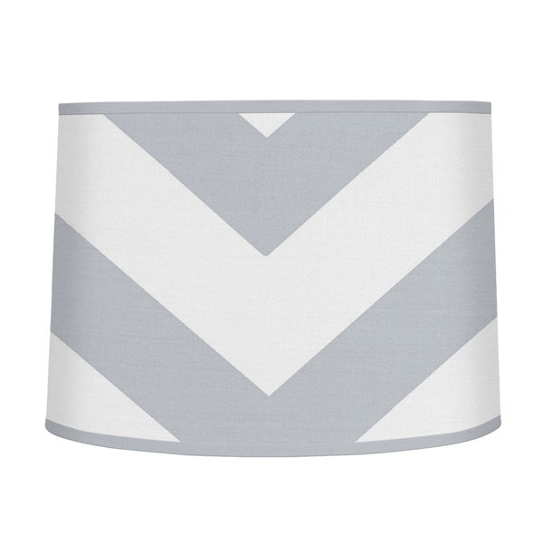 Sweet Jojo Designs Grey and White Chevron Large Lamp Shade