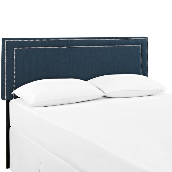 Jessamine Queen-size Upholstered Headboard in Azure