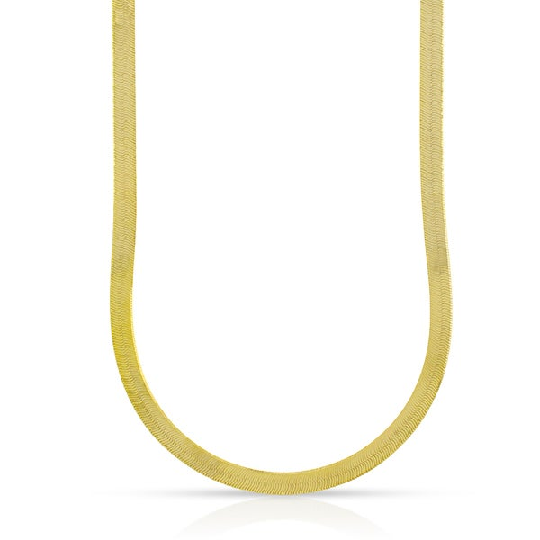 10k Yellow Gold 4mm Herringbone Chain Necklace