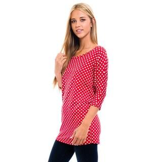 Women's Red Polka Dot Shirt