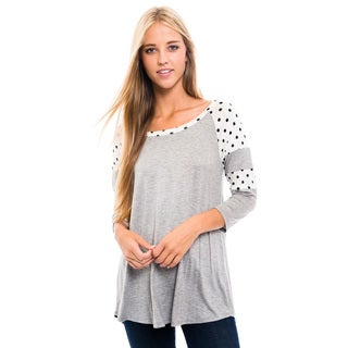 Women's Polka Dot Shoulder Top