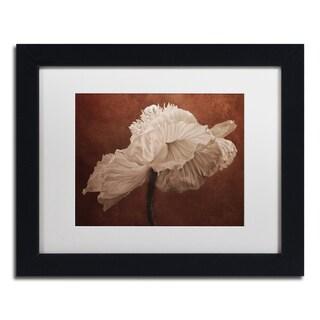 Cora Niele 'White Poppy' Matted Framed Art