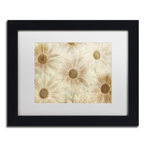 Cora Niele 'Vintage Daisies' Matted Framed Art