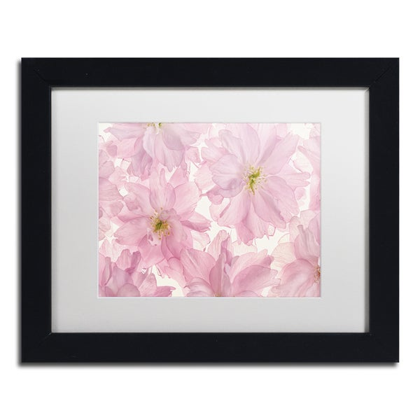 Cora Niele 'Pink Cherry Blossom' Matted Framed Art