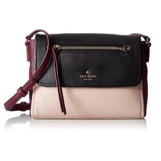 Kate Spade Cobble Hill Mini Toddy Pressed Powder/Merlot/Black Crossbody Handbag