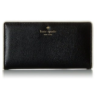 Kate Spade Cobble Hill Stacy Black/Cement Wallet