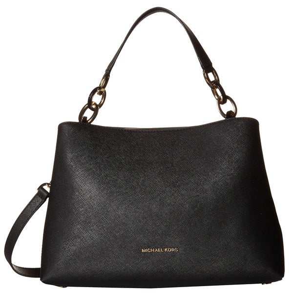 Michael Kors Portia Large East/West Black Shoulder Handbag