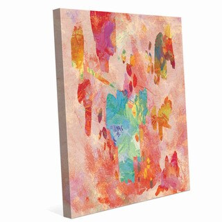 'Crimson Tinted Points' Canvas Wall Art