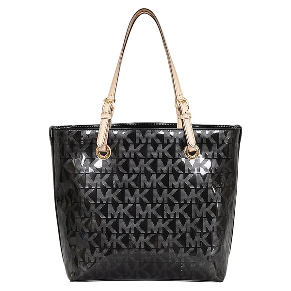 Michael Kors Signature Black Leather Grab Bag