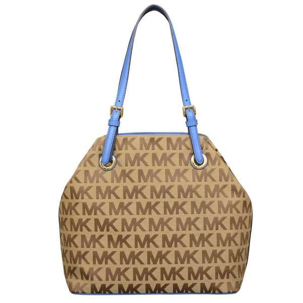 Michael Kors Jet Set Beige/ Ebony/ Heritage Blue Grab Bag