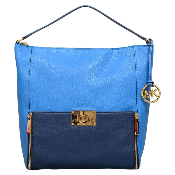 Michael Kors Large Sloan Heritage Blue/ Navy Shoulder Handbag