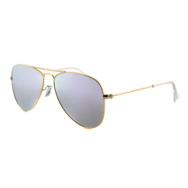 Ray-Ban Junior RJ 9506 249/4V Matte Gold Purple Flash Mirror Lens Metal Aviator Sunglasses 19993092