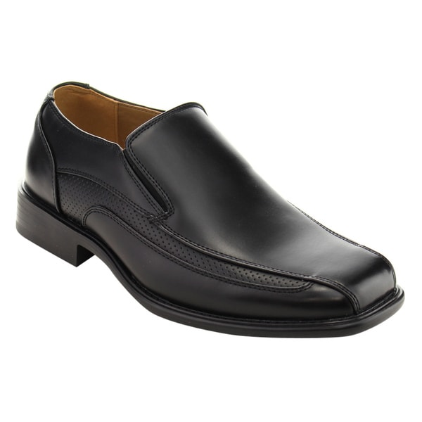 Arider Men's AC87 Black Slip-on Flat-heel Office Oxford Loafer Dress Shoes