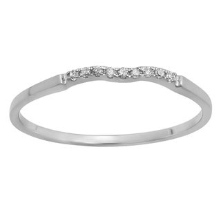 14k Gold 1/20ct TDW Round White Diamond Bridal Anniversary Ring Wedding Guard Band (I-J, I2-I3)
