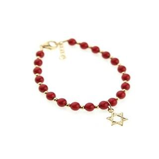 Baby Shower Red Coral Gold-filled Bracelet