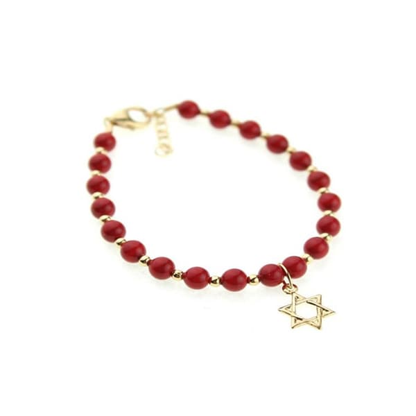 Baby Shower Red Coral Gold-filled Bracelet