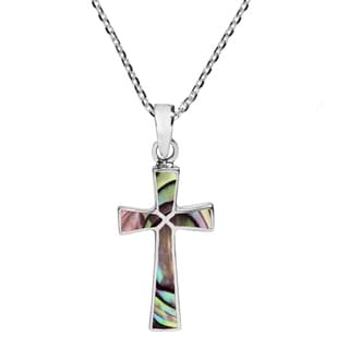 Minimalism Cross Natural Stone .925 Silver Necklace (Thailand)