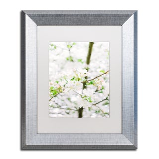 Ariane Moshayedi 'White Cherry Blossom Tree 5' Matted Framed Art
