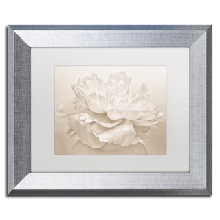 Cora Niele 'White Peony' Matted Framed Art