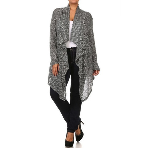 Women's Plus Size Knitted Cardigan