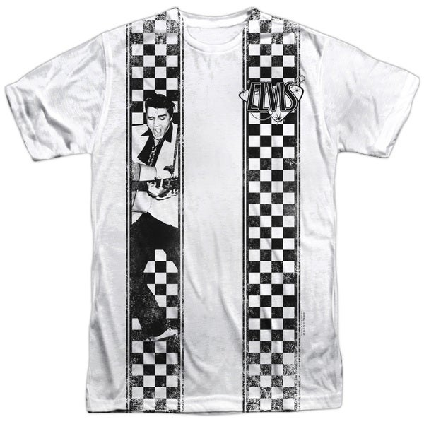 Elvis/Checkered Bowling Shirt (Front/Back Print)