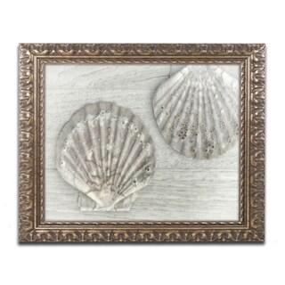 Cora Niele 'Two King Scallop Shells' Ornate Framed Art