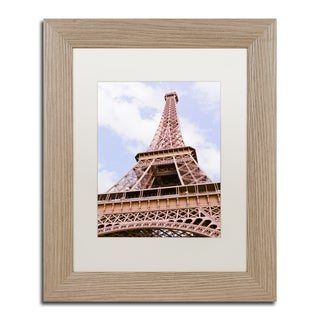 Ariane Moshayedi 'Eiffel Tower from Below' Matted Framed Art