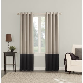 Sun Zero Plymouth Room Darkening Lined Grommeted Curtain Panel