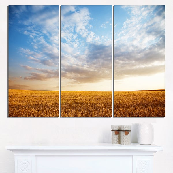 Wheat Field under Summer Sky - Extra Large Wall Art Landscape