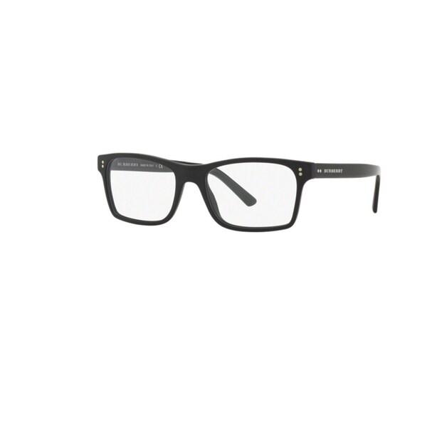 Burberry BE2222F 3594 Matte Black Plastic Square Full-rim Eyeglasses with 55mm Lens