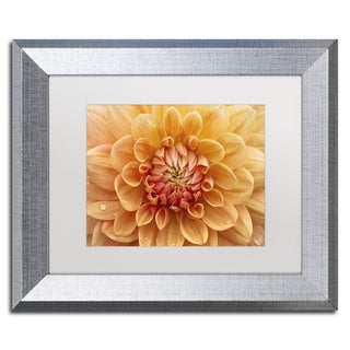 Cora Niele 'Orange Dahlia' Matted Framed Art