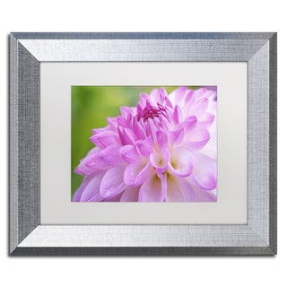 Cora Niele 'Cerise Pink Dahlia' Matted Framed Art