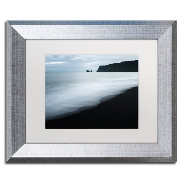 Philippe Sainte-Laudy 'White Waves' Matted Framed Art