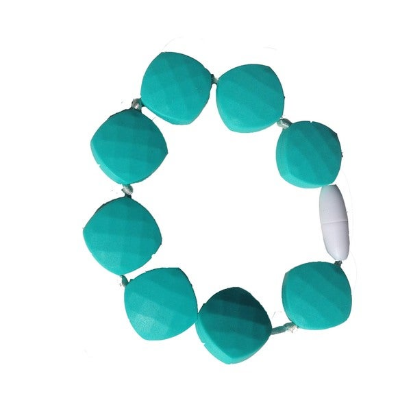 SillyMunk Teal Silicone Teething Beaded Bracelet