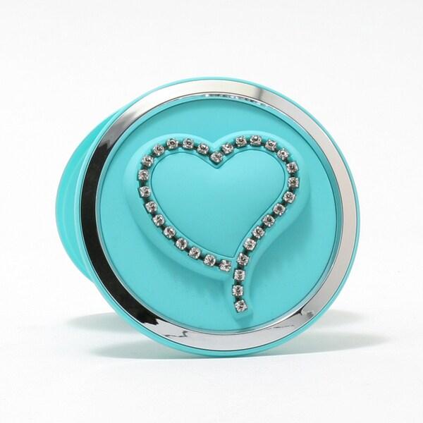 Swarovski Teal Heart Compact