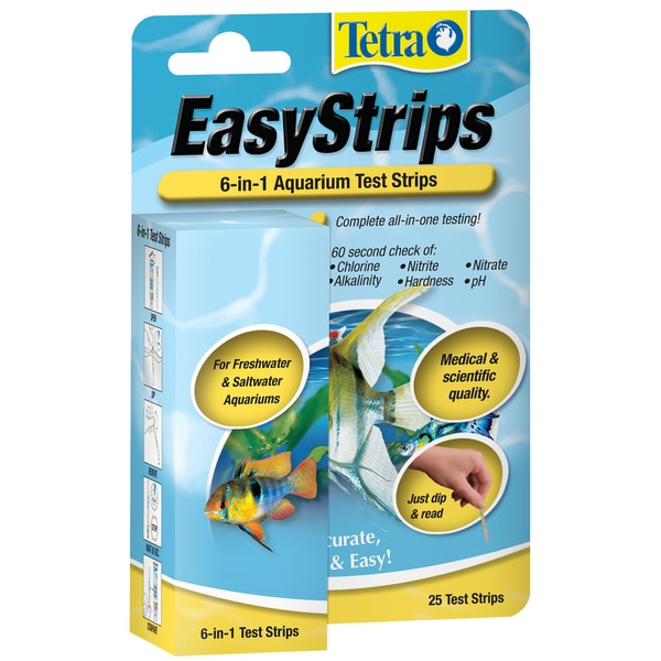 Tetra Pond 19542 6-In-1 EasyStrips Test Strips 25-count