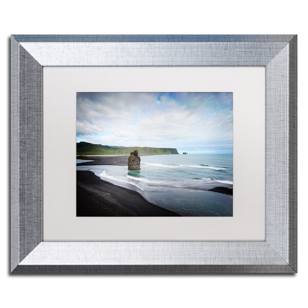 Philippe Sainte-Laudy 'An Afternoon in Dyrholaey' Matted Framed Art