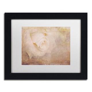 Cora Niele 'Vintage Rose Card' Matted Framed Art