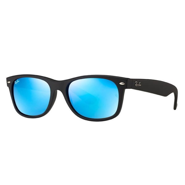 ray ban aviator black frame blue lens  Blue Frame Ray Ban Sunglasses