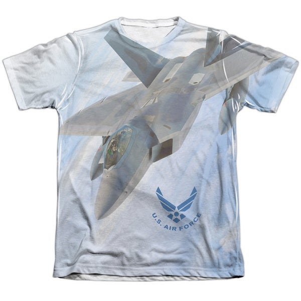 Air Force/Fly By Adult Poly/Cotton Short Sleeve Tee in White 20004378