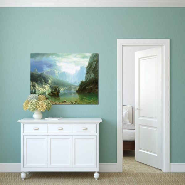 Albert Bierstadt 'Sierra Navada' Gallery Wrapped Canvas Art 20004825