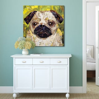 Sandy Doonan 'Art Dog Pug' Stretched and Wrapped Canvas Print Wall Art