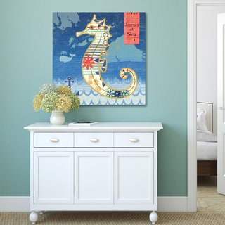 Jennifer Brinley 'Coastal Critters Seahorse' Decor Canvas Print Wall Art